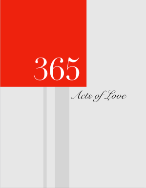 Fall in Love or Fall deeper in Love with  the 365 Acts of Love Planner